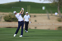 Trey Mulinax (USA) during the 1st round of the Waste Management Phoenix Open, TPC Scottsdale, Scottsdale, Arisona, USA. 31/01/2019.<br /> Picture Fran Caffrey / Golffile.ie<br /> <br /> All photo usage must carry mandatory copyright credit (© Golffile | Fran Caffrey)