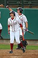 6 March 2008: Stanford Cardinal Michelle Smith (front) and Rosey Neill (back) during Stanford's 2-1 win against the Campbell Fighting Camels at the Boyd & Jill Smith Family Stadium in Stanford, CA.