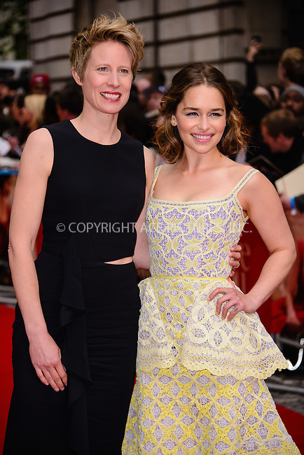 WWW.ACEPIXS.COM<br /> <br /> May 25 2016, New York City<br /> <br /> Director Thea Sharrock (L) and Emilia Clarke attending the UK premiere of 'Me Before You' at The Curzon Mayfair on May 25, 2016 in London, England. <br /> <br /> By Line: Famous/ACE Pictures<br /> <br /> <br /> ACE Pictures, Inc.<br /> tel: 646 769 0430<br /> Email: info@acepixs.com<br /> www.acepixs.com