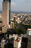 Aerial photographs of Mexico City shooting location for future bisentenial arc.  Fernando Romero