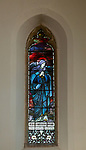 Stained glass window church of Saint Mary, Martlesham, Suffolk, England, UK - by Heaton, Butler and Bayne early 1900s, God My Saviour