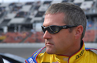 Feb 11, 2007; Daytona, FL, USA; Nascar Nextel Cup driver Bobby Labonte (43) during qualifying for the Daytona 500 at Daytona International Speedway. Mandatory Credit: Mark J. Rebilas