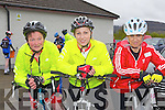 Marie Carroll, Cathy Higgins and Catriona O'Donoghue Killarney who cycled in the Barraduff 80 km cycle in aid of Ballyduff NS on Sunday..