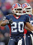 24 December 2006: Buffalo Bills safety Donte Whitner (20) gets the crowd pumped up during a game against the Tennessee Titans at Ralph Wilson Stadium in Orchard Park, New York. The Titans edged out the Bills 30-29.&amp;#xA; &amp;#xA;Mandatory Photo Credit: Ed Wolfstein Photo<br />