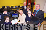 Digital Schools of Distinction Award, 2014 presented to Curraheen National School. on Monday Pictured Peter Kerins, Ciara Foley, Alan Scroope (CEO Freeflow), Seamus Cadogan (Board of Management), Eoin Healy, Amy Kerins, and Principal  Donal  O'Connor.