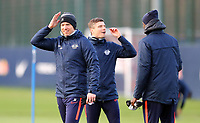 9th March 2020, Red Bull Arena, Leipzig, Germany; RB Leipzig press confefence and training ahead of their Champions League match versus Tottenham Hotspur on 10th March 2020; Trainer Julian Nagelsmann RB Leipzig and Co Trainer Robert Klauss RB Leipzig.