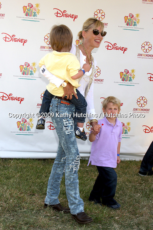 "Sharon Stone & sons Quinn & Laird arriving at the ""A Time For Heroes Celebrity Carnival"" benefiting the Elizabeth Glaser Pediatrics AIDS Foundation at the Wadsworth Theater Grounds in Westwood , CA on June 7, 2009 .©2009 Kathy Hutchins / Hutchins Photo.."