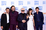 (L-R) Leonardo Sbaraglia, Asier Etxeandia, Pedro Almodovar, Penelope Cruz and Antonio Banderas attend the movie premiere of 'Dolor y gloria' in Capitol Cinema, Madrid 13th March 2019. (ALTERPHOTOS/Alconada)