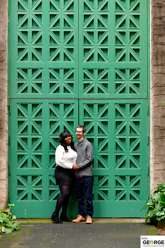 Bree and Ian at Golden Gate Park Flower Conservatory and The Palace of Fine Arts.