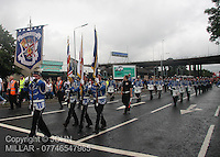 Pride of Govan Flute Band with Govan District returning from the County Grand Orange Lodge of Glasgow Parade 2012 which took place in Glasgow on 7.7.12..