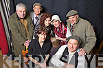 """Members of The Spike Drama Group, Knocknagoshal during dress rehersals ahead of opening night of """"Wigs on The Green"""" this Friday night, pictured l-r: Chris Barrett, John Stretton, Noreen Callaghan, Josephine Roche, Lilly Doody, Freddie Brown and Bertie Hickey."""