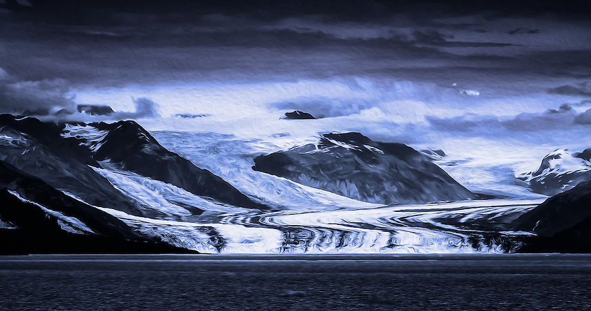Honorable Mention - Creative: Glacier Blues at Harvard Glacier
