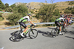 Ryan Gibbons and Johann Van Zyl (RSA) Team Dimension Data climb Sierra de la Alfaguara during Stage 4 of the La Vuelta 2018, running 162km from Velez-Malaga to Alfacar, Sierra de la Alfaguara, Andalucia, Spain. 28th August 2018.<br /> Picture: Eoin Clarke   Cyclefile<br /> <br /> <br /> All photos usage must carry mandatory copyright credit (&copy; Cyclefile   Eoin Clarke)
