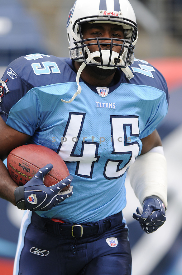 AJAMARD HALL, of the Tennessee Titans  in action during the Titans game against the Houston Titans on December 2, 2007 in Nashville, Tennessee...TITANS  win 28-20..SportPics