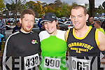 Pictured at the Tralee Carers 10k Mini Marathon at the Brandon Hotel on Sunday were from left: Fintan O'Connell (Tralee) Gillian Kerins (Castleisland) and Jason Kerins (Castleisland).
