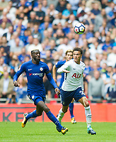 Tottenham's Dele Alli and Chelsea's Tiemoue Bakayoko during the Premier League match between Tottenham Hotspur and Chelsea at Wembley Stadium, London, England on 20 August 2017. Photo by Andrew Aleksiejczuk / PRiME Media Images.