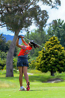 Emilie Ricaud. 2018 Annika Australiasia Invitational Junior-Am at Royal Wellington Golf Club in Upper Hutt, Wellington, New Zealand on Friday, 14 December 2018. Photo: Dave Lintott / lintottphoto.co.nz