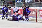 Viel Gedraenge vor Ingolstadts Pielmeier beim Spiel in der DEL, ERC Ingolstadt (blau) - Nuernberg Ice Tigers (weiss).<br /> <br /> Foto &copy; PIX-Sportfotos *** Foto ist honorarpflichtig! *** Auf Anfrage in hoeherer Qualitaet/Aufloesung. Belegexemplar erbeten. Veroeffentlichung ausschliesslich fuer journalistisch-publizistische Zwecke. For editorial use only.