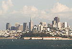Downtown San Francisco as seen from the Vista Point Overlook area in San Francisco, California.