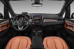 Stock photo of straight dashboard view of 2017 BMW 2-Series-Active-Tourer Luxury 5 Door Mini MPV Dashboard