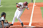 Matt Fanelli, Washington State designated hitter, tries to get out of the way of a pitch during the Cougars Pac-10 conference victory over Oregon State at Bailey-Brayton Field in Pullman, Washington, on April 24, 2010.