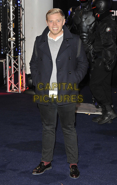 LONDON, ENGLAND - FEBRUARY 05: Rob Beckett at the &quot;Robocop&quot; world film premiere, BFI Imax cinema on February 05, 2014 in London, England, UK.<br /> CAP/CAN<br /> &copy;Can Nguyen/Capital Pictures