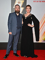 LOS ANGELES, CA. March 28, 2019: David F. Sandberg & Lotta Losten at the world premiere of Shazam! at the TCL Chinese Theatre.<br /> Picture: Paul Smith/Featureflash