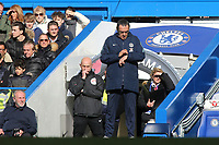Chelsea Manager, Maurizio Sarri checks his watch during Chelsea vs Wolverhampton Wanderers, Premier League Football at Stamford Bridge on 10th March 2019