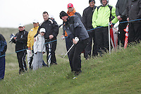 BJÖRN Thomas playing the 15th after play restarted on day 3 at the 3 Irish open in Co Louth Golf Club...Photo: Fran Caffrey/www.golffile.ie..