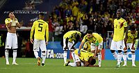 MOSCU - RUSIA, 03-07-2018: Jugadores de Colombia lucen decepcionados después del partido de octavos de final entre Colombia y Inglaterra por la Copa Mundial de la FIFA Rusia 2018 jugado en el estadio del Spartak en Moscú, Rusia. / Players of Colombia look disappointed after the match between Colombia and England of the round of 16 for the FIFA World Cup Russia 2018 played at Spartak stadium in Moscow, Russia. Photo: VizzorImage / Julian Medina / Cont