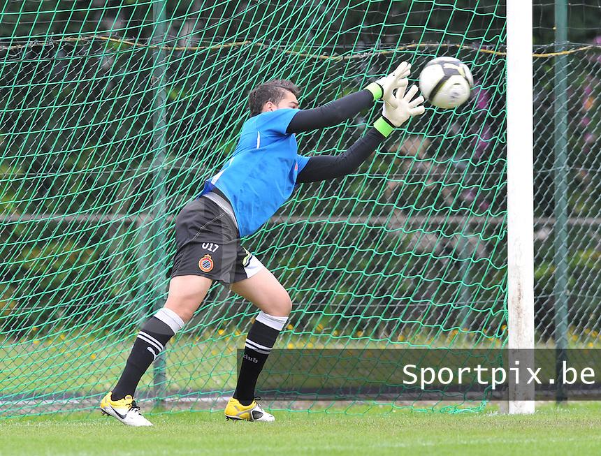 Club Brugge U17 doelman ;.Oussayd Belkouch.foto DAVID CATRY / Loft6.be