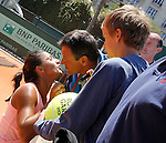 Tenis, Junior Roland Garros 2011.Natalija Kostic (SRB) Vs. Victoria Duval (USA).Natalija Kostic, celebrate the victory.Paris, 01.06.2011..foto: Srdjan Stevanovic/Starsportphoto ©