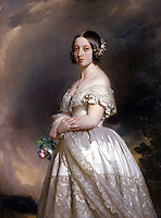 The Young Queen Victoria<br /> Date 	<br /> <br /> 1842<br /> Source 	<br /> <br /> Osborne House, Isle of Wight<br /> Author 	<br /> <br /> Winterhalter, Franz Xavier (1806-1873)- ,Queen Victoria-