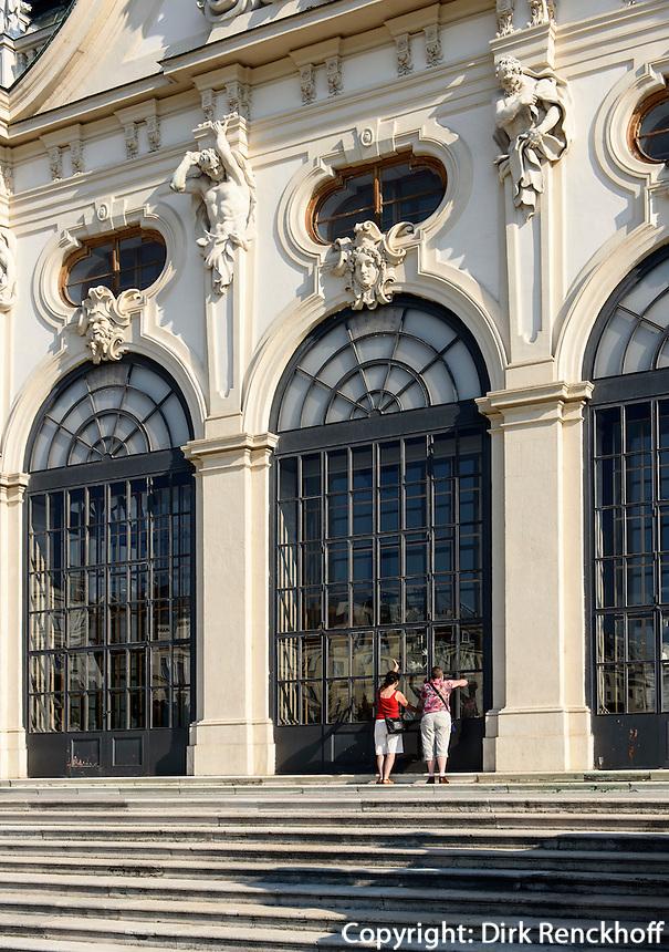 Treppenaufgang zum Oberen Belvedere im barocker Sommerresidenz Belvedere, Wien, &Ouml;sterreich, UNESCO-Weltkulturerbe<br /> Stairway to upper Belvedere in Baroque summer residence Belvedere, Vienna, Austria, world heritage