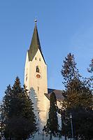 Katholische Kirche St.Johannes Baptist  in Oberstdorf im Allg&auml;u, Bayern, Deutschland<br /> Catholic church St. Johann Baptist   in Oberstdorf, Allg&auml;u, Bavaria,  Germany