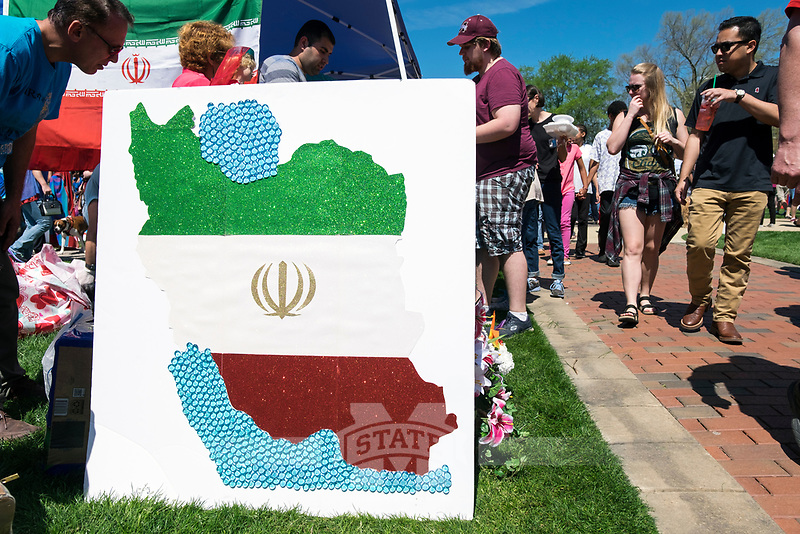 International Fiesta 2017 - Drill Field festival.  Iranian food booth.<br />