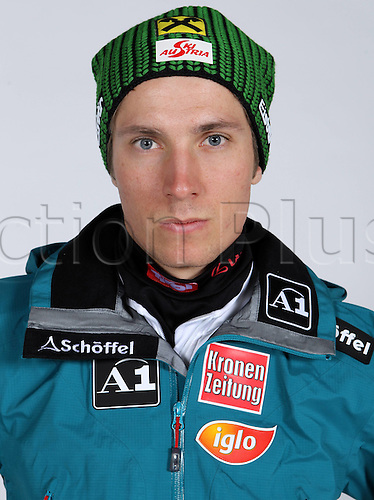 16.10.2010  Winter sports OSV Einkleidung Innsbruck Austria. Ski Alpine OSV Austrian Ski Federation. Einkleidung men Picture shows Marcel Hirscher AUT