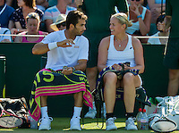 England, London, Juli 04, 2015, Tennis, Wimbledon, Mixed doubles : Jean-Julian Rojer (NED) with his partner Anna-Lena Groenefeld (GER)<br /> Photo: Tennisimages/Henk Koster