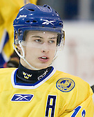 Johan Sundström (Sweden - 13) - The Merrimack College Warriors defeated the visiting Sweden Under 20 team 4-1 on Tuesday, November 2, 2010, at Lawler Arena in North Andover, Massachusetts.