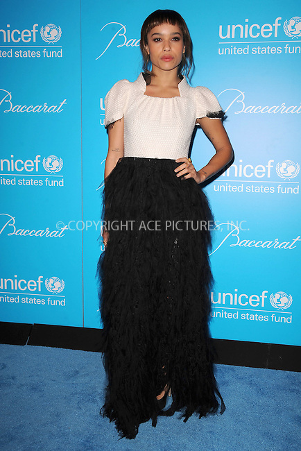 WWW.ACEPIXS.COM . . . . . .November 29, 2011, New York City.... Zoe Kravitz attends 2011 UNICEF Snowflake Ball at Cipriani 42nd Street on November 29, 2011 in New York City. ....Please byline: KRISTIN CALLAHAN - ACEPIXS.COM.. . . . . . ..Ace Pictures, Inc: ..tel: (212) 243 8787 or (646) 769 0430..e-mail: info@acepixs.com..web: http://www.acepixs.com .