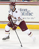 Ryan Fitzgerald (BC - 19) - The Boston College Eagles defeated the visiting University of Connecticut Huskies 3-2 on Saturday, January 24, 2015, at Kelley Rink in Conte Forum in Chestnut Hill, Massachusetts.