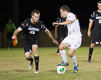 The Winthrop University Eagles beat the UNC Asheville Bulldogs 4-0 to clinch a spot in the Big South Championship tournament.  Patrick Barnes (11), Cole Schwietering (20)