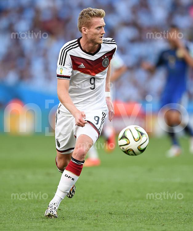 FUSSBALL WM 2014                FINALE Deutschland - Argentinien     13.07.2014 Andre Schuerrle (Deutschland) am Ball