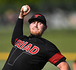 Triad starting pitcher Nick Beeler. Triad defeated Waterloo 4-2 in a Class 3A Baseball Regional semifinal baseball game on Thursday May 24, 2018. Tim Vizer | Special to STLhighschoolsports.com