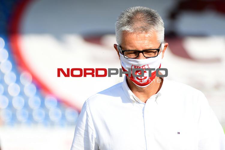 12.06.2020, Hänsch-Arena, Meppen, GER, 3.FBL, SV Meppen vs. Hallescher FC, <br /> <br /> im Bild<br /> Sportdirektor Ralf Heskamp (Hallescher FC)<br /> <br /> <br /> DFL REGULATIONS PROHIBIT ANY USE OF PHOTOGRAPHS AS IMAGE SEQUENCES AND/OR QUASI-VIDEO<br /> <br /> Foto © nordphoto / Paetzel