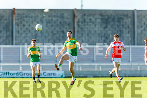 Bryan Sheehan South Kerry in action against Conor Geaney Dingle in the Quarter Finals of the Kerry County Football Championship at Austin Stack Park on Saturday.