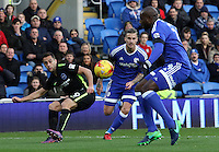 Sam Baldock of Brighton and Hove Albion crosses the ball into the box during the Sky Bet Championship match between Cardiff City and Brighton and Hove Albion at The Cardiff City, Cardiff, Wales, UK. Saturday 03 December 2016