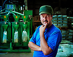 Richard, bottle crushing and recycling depot, Distington.<br />