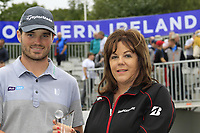 Cormac Sharvin (NIR) highest placed Irish golfer with the Bridgestone Award at the end of Sunday's Final Round of the Northern Ireland Open 2018 presented by Modest Golf held at Galgorm Castle Golf Club, Ballymena, Northern Ireland. 19th August 2018.<br /> Picture: Eoin Clarke | Golffile<br /> <br /> <br /> All photos usage must carry mandatory copyright credit (&copy; Golffile | Eoin Clarke)