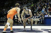 STATE COLLEGE, PA -DECEMBER 19: Jordan Conaway of the Penn State Nittany Lions during a match against Joey Dance of the Virginia Tech Hokies on December 19, 2014 at Recreation Hall on the campus of Penn State University in State College, Pennsylvania. Penn State won 20-15. (Photo by Hunter Martin/Getty Images) *** Local Caption *** Jordan Conaway;Joey Dance